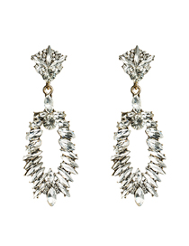 Fashion White Diamond Earrings