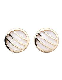Fashion Gold S925 Silver Needle Natural White Mother-of-pearl Earrings