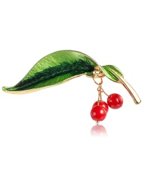 Fashion Color Alloy Leaf Brooch