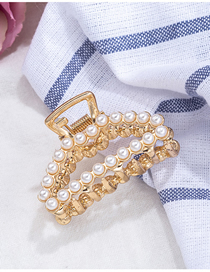 Fashion Triangle Pearl Metal Geometric Gripper Large