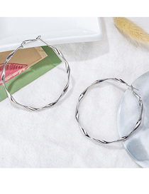 Fashion Large Silver Big Hoop Earrings
