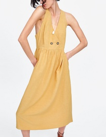 Fashion Yellow Cross Dress