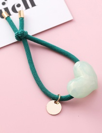 Fashion Green Knotted Love Hair Ring