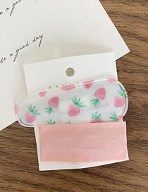 Fashion Big Water Drop - Strawberry Fruit Party Plaid Hair Clip Set