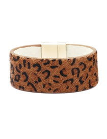 Fashion Small Leopard Magnet Buckle Horse Hair Bracelet