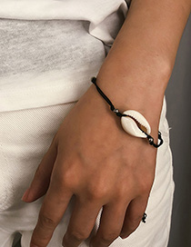 Fashion Hand And Foot Chain Universal White Natural Shell Beaded Adjustable Bracelet