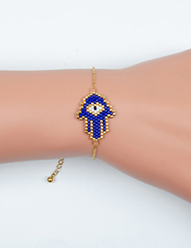 Fashion Blue Palm Religious Totem Bracelet