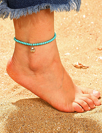 Fashion Gold Rice Beads Shell Alloy Anklet