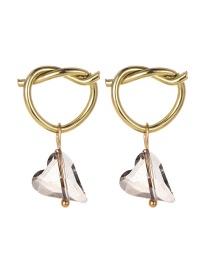 Fashion Kissful Alloy Diamond Heart Earrings