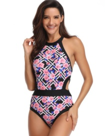 Fashion Adult Geometric Print Piece Siamese Parent-child Swimsuit