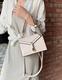 Fashion White Wide Shoulder Strap Slung Bow Tie Shoulder Bag