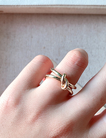 Fashion Gold Knotted Open Ring