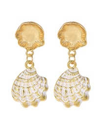 Fashion Gold Alloy Shell Earrings