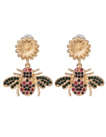 Fashion Color Honey Inlaid Pearl Drill Earrings