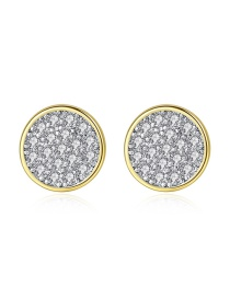 Fashion Silver Pave Zircon Stud Earrings