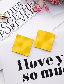 Fashion Yellow Frosted Diamond Pleated Paper Earrings