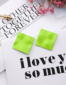 Fashion Green Frosted Diamond Pleated Paper Earrings