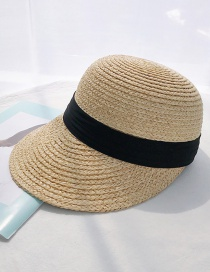 Fashion Lafite Cap Black Ribbon Lafite Straw Hat