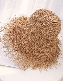 Fashion Khaki Large Irregular Straw Hat