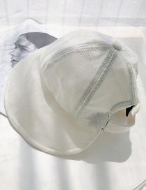 Fashion Milky White Cotton And Linen Folding Sun Hat