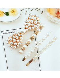 Fashion Four-piece Set Alloy Inlaid Pearl Hairpin