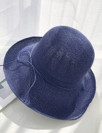 Fashion Navy Extra-fine Woven Straw Hat