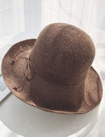 Fashion Brown Extra-fine Woven Straw Hat