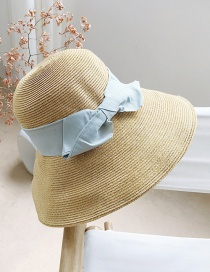 Fashion Grey Blue Straw Big Visor