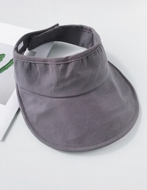Fashion Gray Canvas Empty Top Sun Hat
