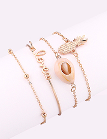 Fashion Gold Color Letter Shape Decorated Bracelets