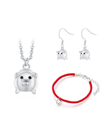 Fashion Silver Color Pig Shape Decorated Jewelry Set