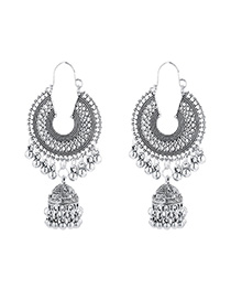 Fashion Silver Tassel Bell Earrings