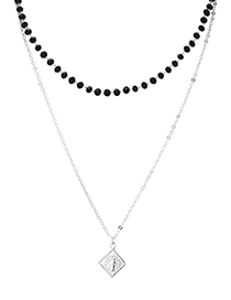 Fashion Platinum Necklace - The Other Side Of The Cloud