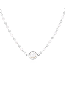 Fashion Platinum Plated Gold Necklace - Starry Little