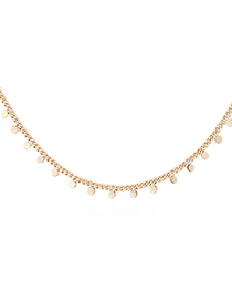 Fashion 14k Gold Plated Gold Necklace - Bit By Bit