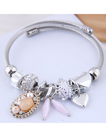 Fashion Pink Metal Bracelet
