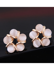 Fashion Gold Opal Earrings
