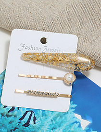 Fashion Gold Hair Clip Three-piece