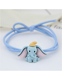 Fashion Blue Elephant Baby Elephant Hair Ring