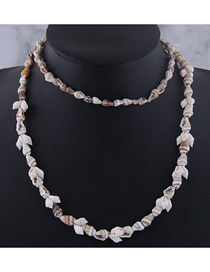 Fashion Gray Conch Shell Necklace