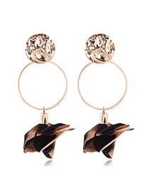 Fashion Gold Flower Earrings