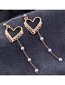 Fashion Gold Peach Heart Earrings