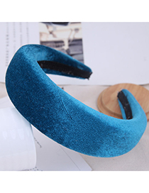 Fashion Hole Blue Thickened Headband