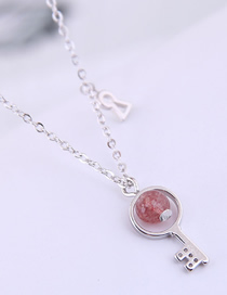 Fashion Silver Copper Plated Real Gold Key Necklace