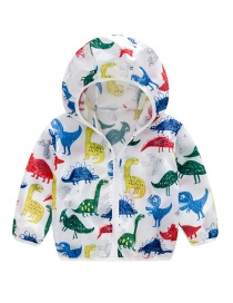 Fashion White Hooded Children's Sun Protection Clothing