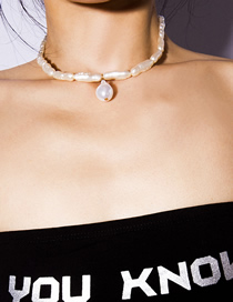 Fashion Gold Shaped Pearl Geometric Necklace