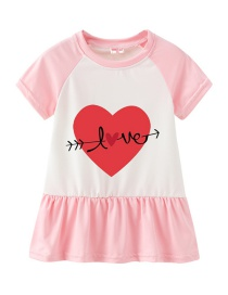 Fashion Pink Cartoon Love Fruit Children's Dress
