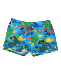 Fashion Undersea World Cartoon Print Children's Swimming Trunks