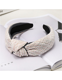 Fashion Pink Houndstooth Knotted Headband Houndstooth Knotted Wide-brimmed Headband
