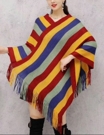 Fashion Color Striped Shawl